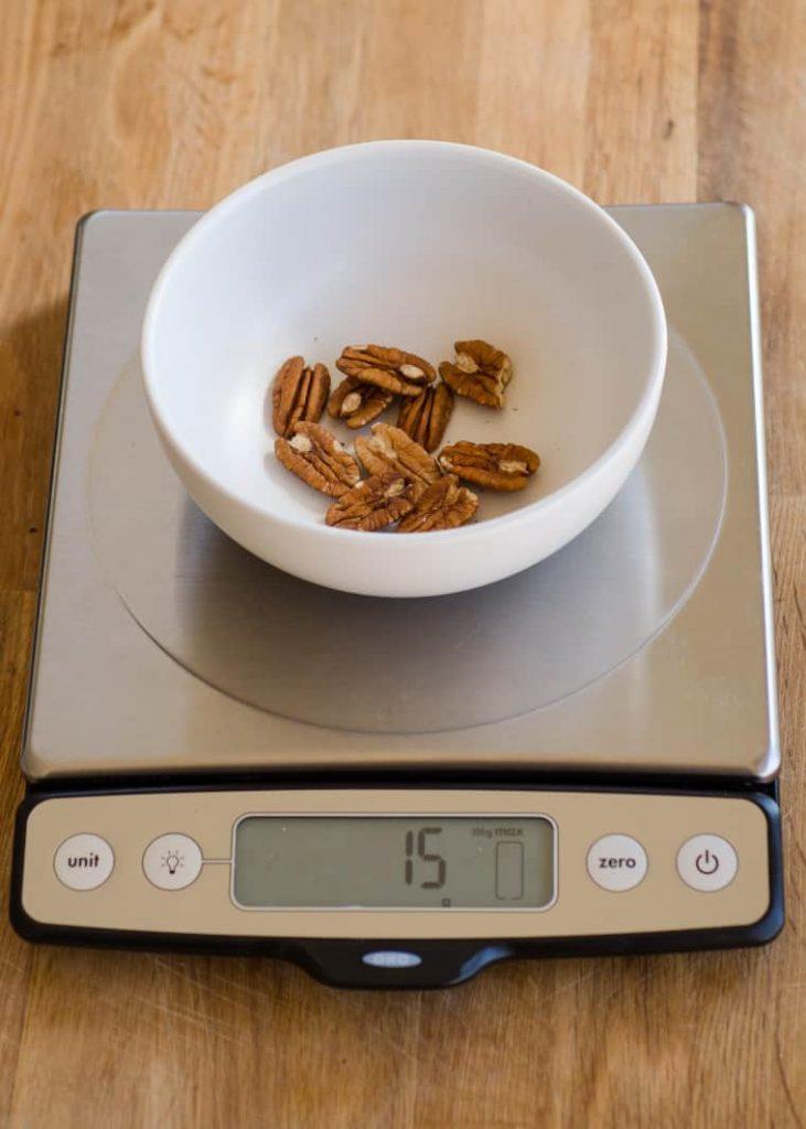 100 calories of pecans