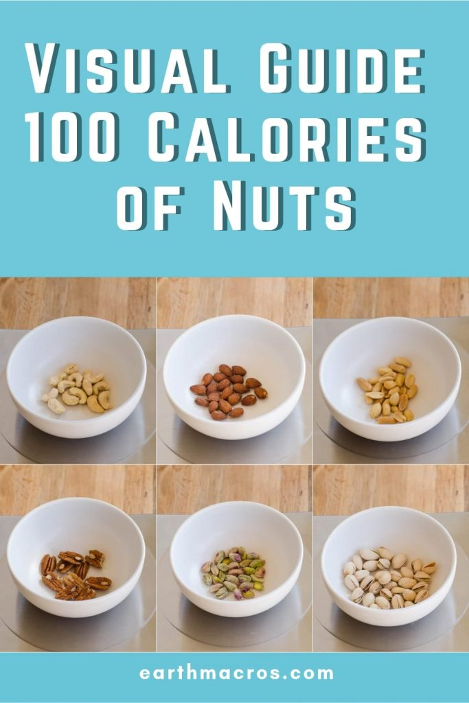 A Visual Guide To 100 Calories of Nuts - Pinterest