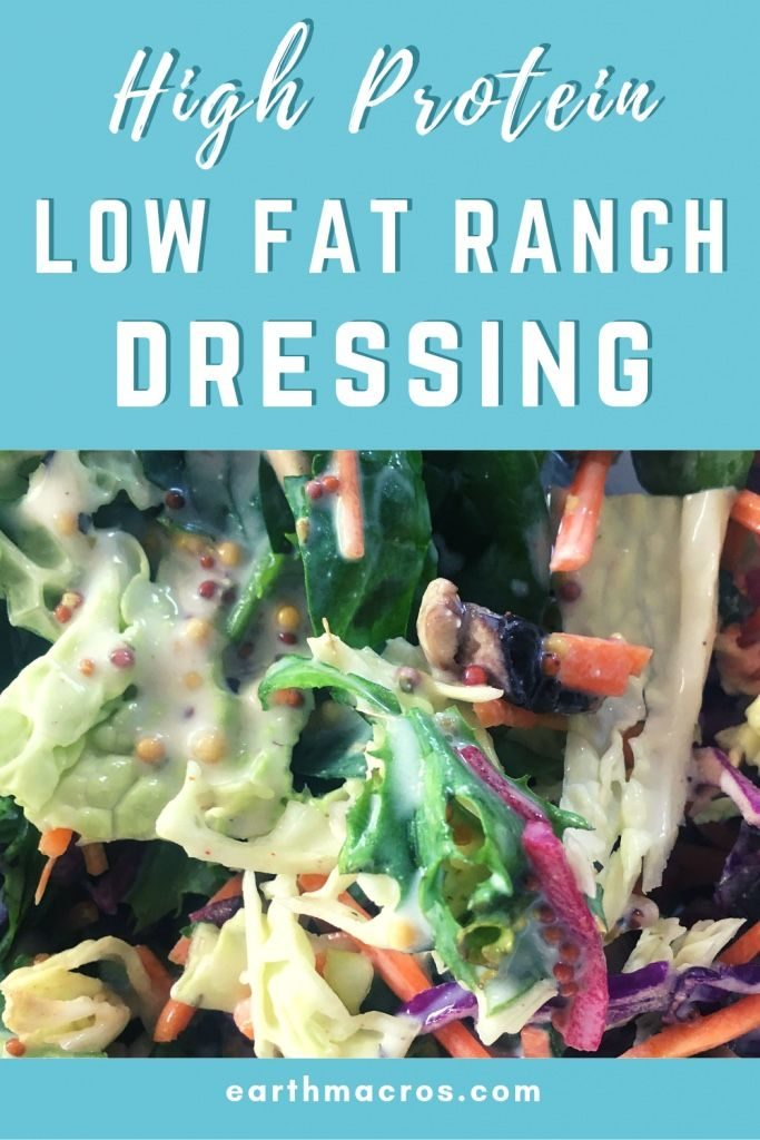 high protein low fat ranch dressing