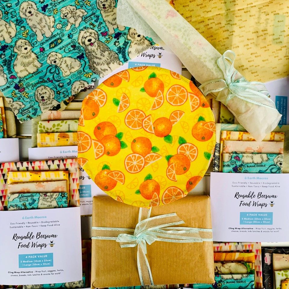 Beeswax Wraps Hand Made In Perth Australia - Beeswax Food Wraps