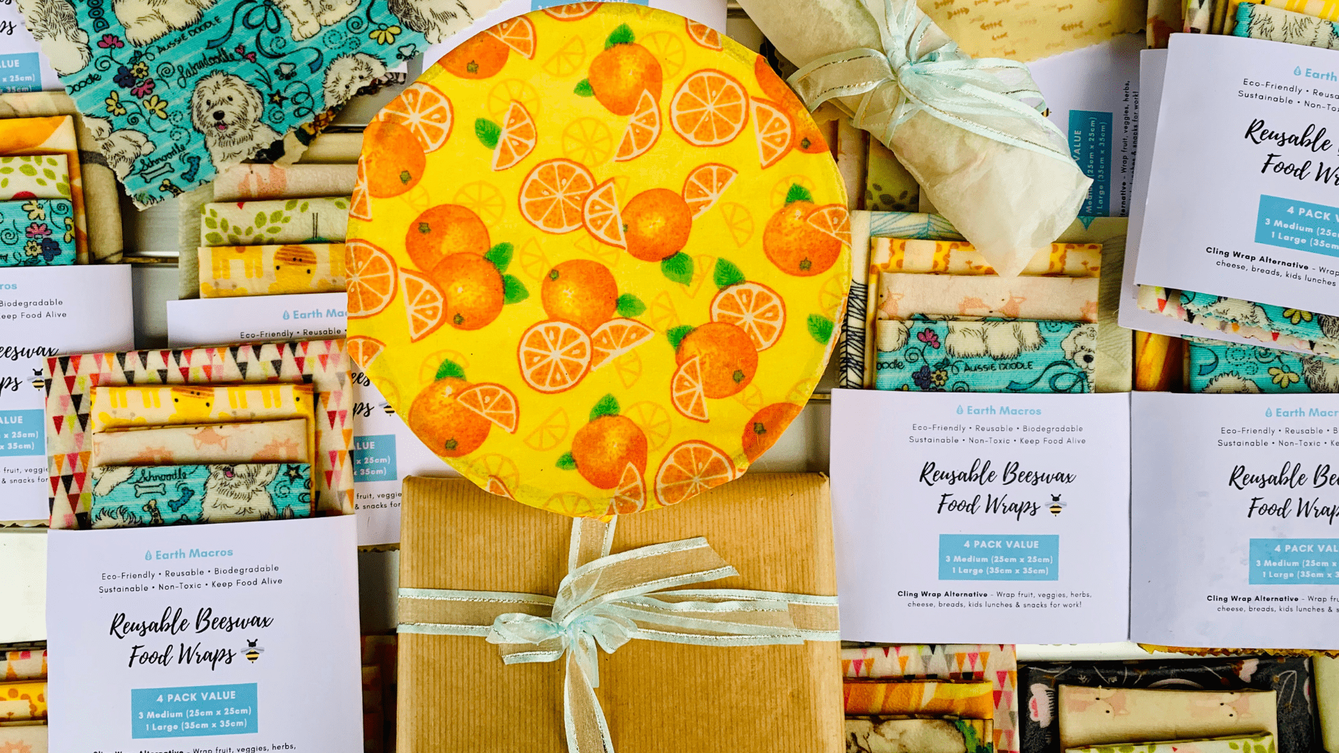 Buy Beeswax Food Wraps - 2 x Medium Pack | Earth Macros