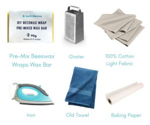 how to make beeswax wraps at home - grate and iron