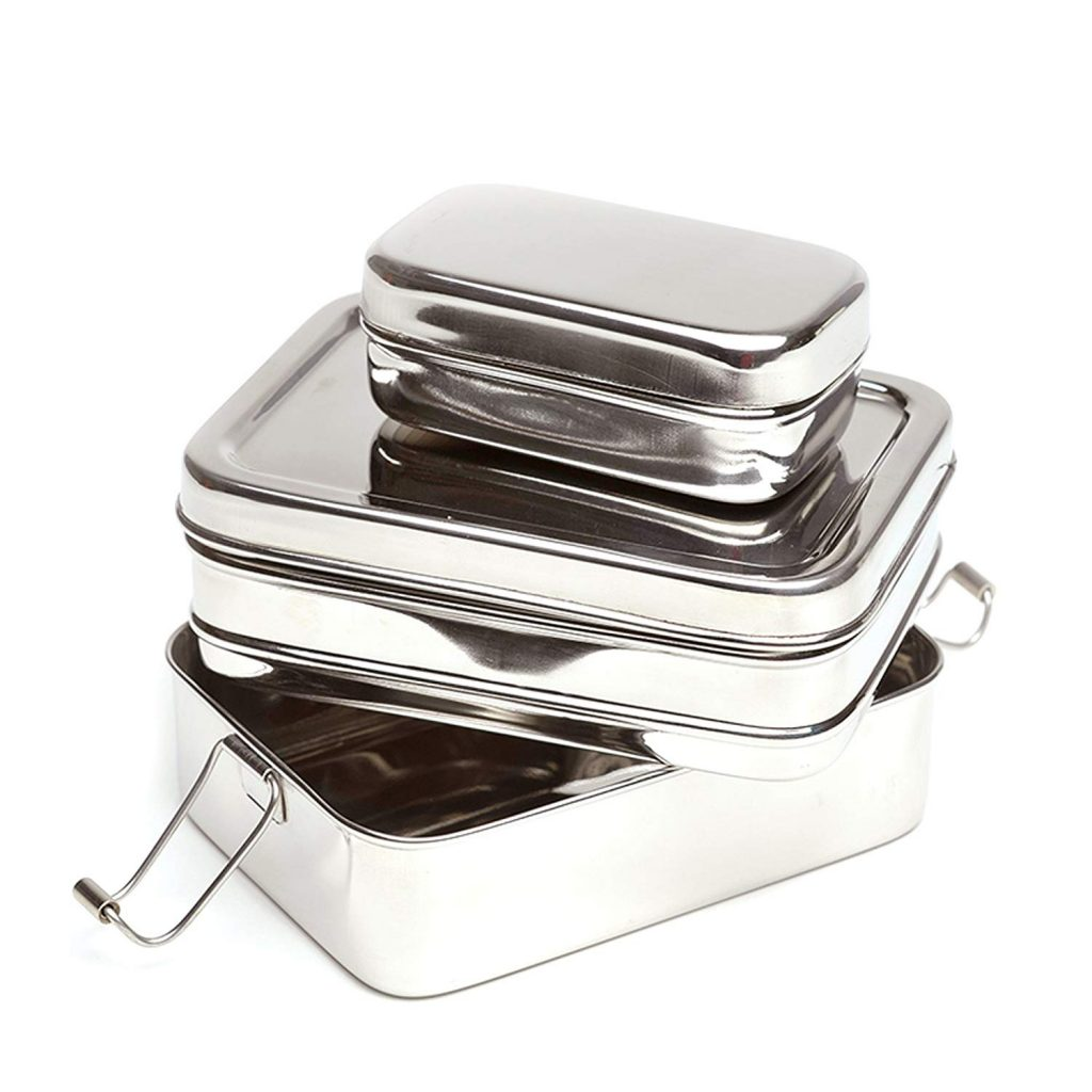 eco-lunch box 3 in one stainless steel lunch box