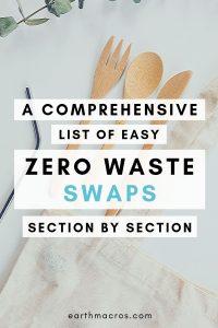 Zero waste swaps list for zero waste lifestyle