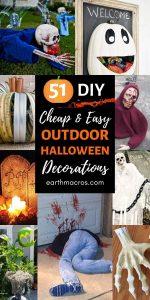 51 Cheap & Easy DIY Outdoor Halloween Decoration Ideas List