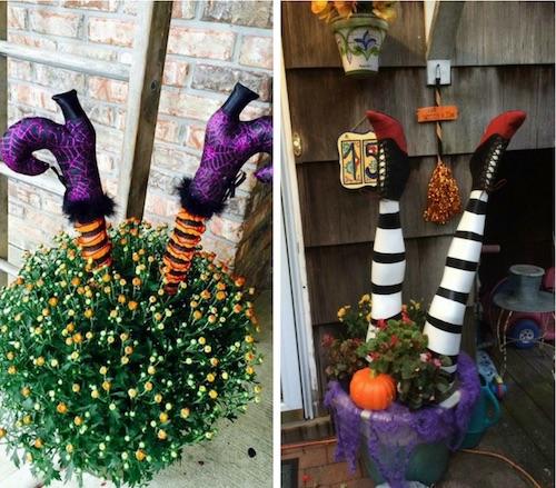 DIY Halloween Outdoor decorations - DIY Wicked Witch Legs