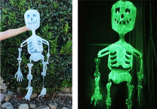 DIY Halloween Decoration Skeletons made out of milk jugs