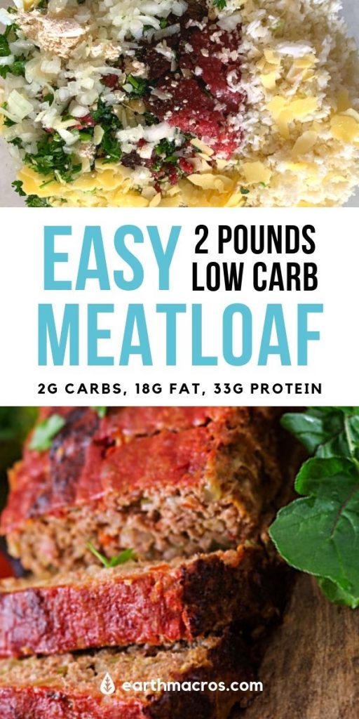 Easy 2lb Low Carb Meatloaf recipe - Best Ever