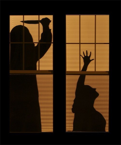 Halloween Haunted House Silhouettes decor outdoor