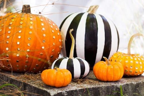Halloween chic aesthetic pumpkin outdoor decor