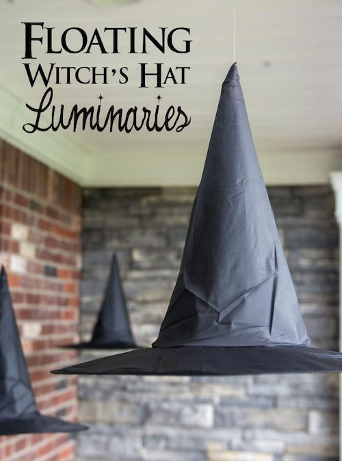Halloween floating witches hat outdoor decoration